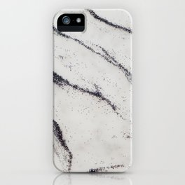 Marble Black Glitter Glam #1 #shiny #gem #decor #art #society6 iPhone Case