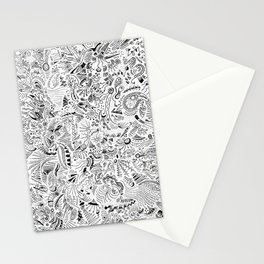 Organic forms on white Stationery Cards