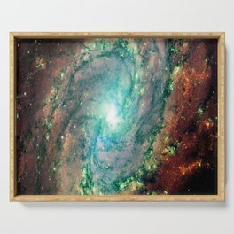 Spiral Galaxy Serving Tray