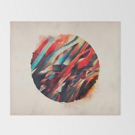 64 Watercolored Lines Throw Blanket