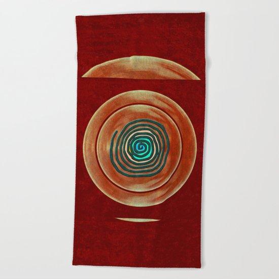 Tribal Maps - Magical Mazes #02 Beach Towel