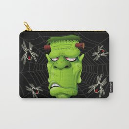 Frankenstein Ugly Portrait and Spiders Carry-All Pouch