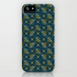 Ornamental Fall Floral Seamless Vector Pattern Background iPhone Case