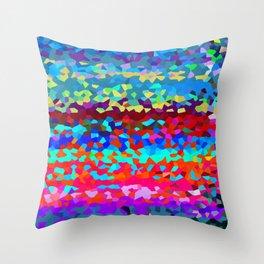 Mermaid Ocean Landscape Throw Pillow