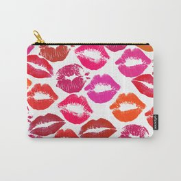 Lipstick Marks Lip Prints Kiss Smooches Carry-All Pouch