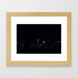 Kuwait Cityscape/Night Framed Art Print