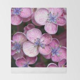 Purple Flowers Throw Blanket