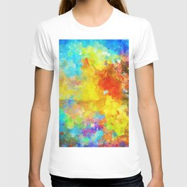 Abstract Painting with Vivid Colours T-shirt