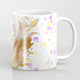 Golden feather with music notes Coffee Mug