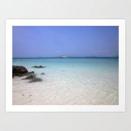 blue skies, clear waters Art Print