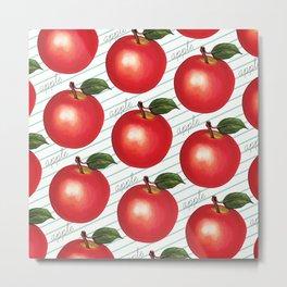 Apple Pattern - Ruled Metal Print