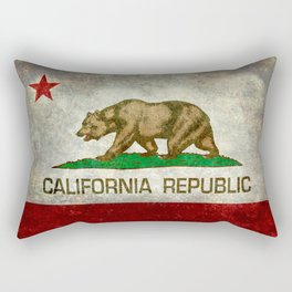 State flag of California in Grunge Rectangular Pillow