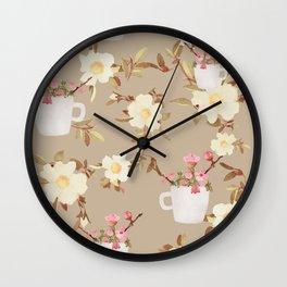 Coffee & Flowers Wall Clock