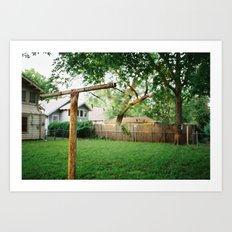 hanging line on film Art Print
