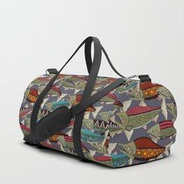 Alaskan salmon dusk Duffle Bag