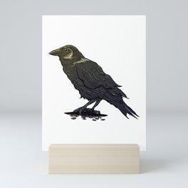 Crow Contemplation Mini Art Print