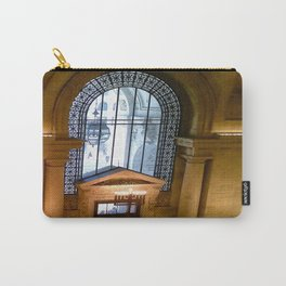 Menorah lit at the New York Public Library, New York City, New York Carry-All Pouch