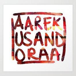 AAREKUSANDORAA Roses Art Print