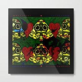 Amo y Besos Symmetrical Art Metal Print