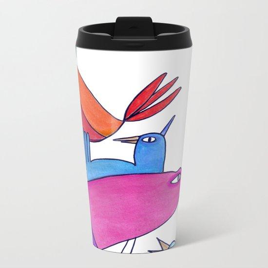 gossipy birds Metal Travel Mug
