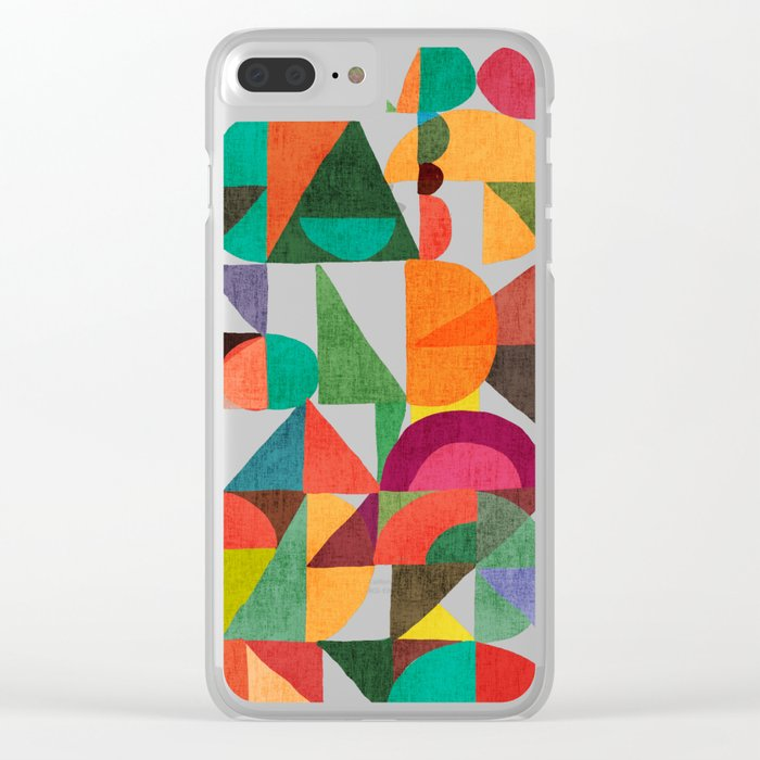 Color Field Clear iPhone Case