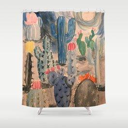 Escape into the Deep Blue Desert Shower Curtain