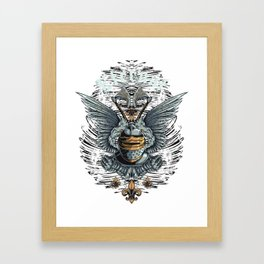 Eternal Knight with Angel Wings 2 Axes Framed Art Print