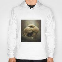 study Hoodies featuring Study of a Gibbon - The Thinker by Pauline Fowler ( Polly470 )