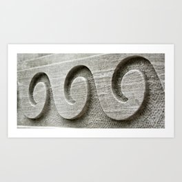 Chiseled Waves Art Print