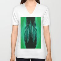 ikat V-neck T-shirts featuring IKAT IKAT by SHERYLCOLOUR