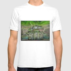 The Ghosthouse White Mens Fitted Tee MEDIUM