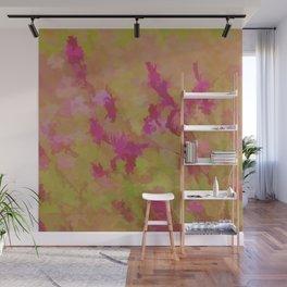 Pink Splatter Garden Wall Mural