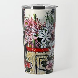 """Basket of Flannel Flowers"" by Margaret Preston Travel Mug"