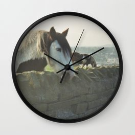 Horse in Whitby Wall Clock