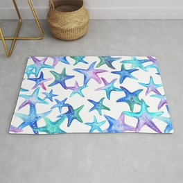 Watercolor Starfish Rug