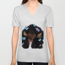 And She Had Butterflies in Her Hair Unisex V-Neck