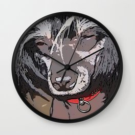 Chinese crested 21 Wall Clock