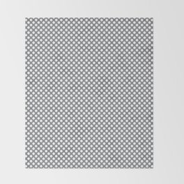 Sharkskin and White Polka Dots Throw Blanket
