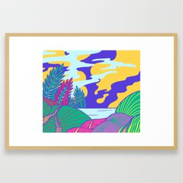 Fantasy Valley Framed Art Print