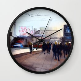 Pikes Place Market Wall Clock