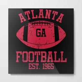 Atlanta Football Fan Gift Present Idea Metal Print