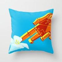 Biomechanical Interchange Throw Pillow
