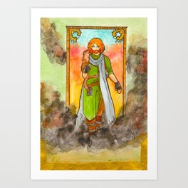 Caleb and Frumpkin Art Print