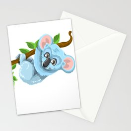 Blue Koala Cartoon Stationery Cards