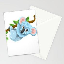 Blue Koala Cartoon Stationery Cards