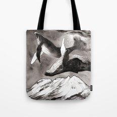 lunar whales Tote Bag