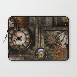 Steampunk, wonderful clockwork with gears Laptop Sleeve