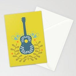 Fancy folk guitar Stationery Cards