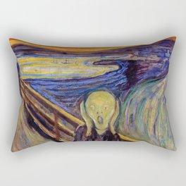The Scream 1893 - Digital Remastered Edition2 Rectangular Pillow