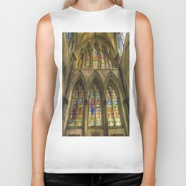 Rochester Cathedral Stained Glass Windows Art Biker Tank